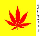cannabis sign illustration. red ... | Shutterstock .eps vector #469592606