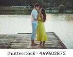 couples on a sandy beach   a... | Shutterstock . vector #469602872