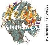 tropical exotic summer print... | Shutterstock .eps vector #469605218