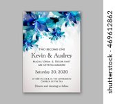 wedding invitation or card with ... | Shutterstock .eps vector #469612862