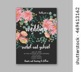 wedding invitation or card with ... | Shutterstock .eps vector #469613162