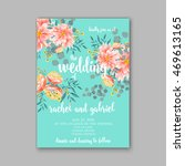 wedding invitation or card with ... | Shutterstock .eps vector #469613165