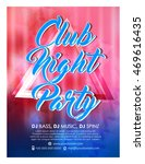 creative vector party flyer... | Shutterstock .eps vector #469616435