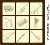 vector thin line icons with... | Shutterstock .eps vector #469621952