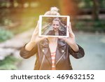 close up of a beautiful young... | Shutterstock . vector #469632152