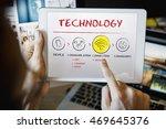 internet multimedia technology... | Shutterstock . vector #469645376