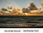 Sunset.   Baltic Sea. Gold Sea...