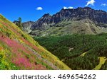 alpien mountains with violet... | Shutterstock . vector #469654262