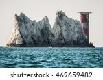 the needles lighthouse was... | Shutterstock . vector #469659482