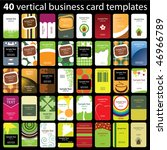 40 colorful vertical business... | Shutterstock .eps vector #46966789