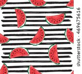 water melon seamless pattern... | Shutterstock . vector #469675616