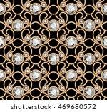 vintage gold ornament  vector... | Shutterstock .eps vector #469680572