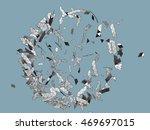 vector exploding sphere shape...   Shutterstock .eps vector #469697015