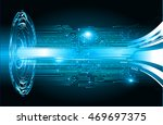 blue abstract cyber future... | Shutterstock .eps vector #469697375