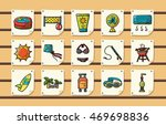 summer and beach icons set eps10 | Shutterstock .eps vector #469698836