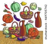 autumn harvesting. vector...   Shutterstock .eps vector #469705742