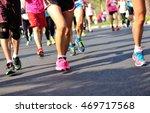 unidentified marathon athletes...   Shutterstock . vector #469717568