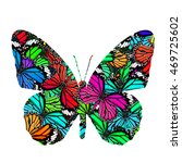 the fancy butterfly in colorful ... | Shutterstock . vector #469725602