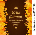 autumn vector poster on wood... | Shutterstock .eps vector #469728248