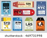 vintage luggage tags  travel...   Shutterstock .eps vector #469731998