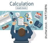 calculation concept.... | Shutterstock .eps vector #469734896