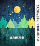 moon. sweet dreams wallpaper. | Shutterstock .eps vector #469748762