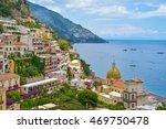 positano city  amalfi coast ... | Shutterstock . vector #469750478