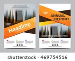 orange brochure layout design... | Shutterstock .eps vector #469754516