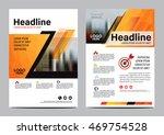 orange brochure layout design... | Shutterstock .eps vector #469754528