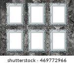 close up of six blank baroque... | Shutterstock . vector #469772966