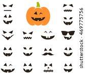 Set Of Faces For Halloween...