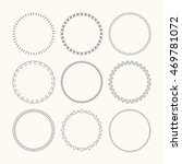 set of vector graphic circle... | Shutterstock .eps vector #469781072