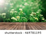 wooden slats backdrop with... | Shutterstock . vector #469781195