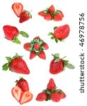 berries of strawberry on white... | Shutterstock . vector #46978756