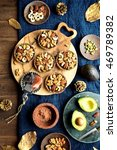 nuts tarts with avocado on the... | Shutterstock . vector #469789382