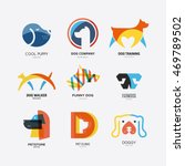 set of logotypes with dogs. dog ... | Shutterstock .eps vector #469789502