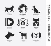 Stock vector set of logotypes with dogs dog logo collection logotype for vet clinic pet shop dog training or 469789532