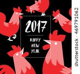 chinese new year 2017  rooster... | Shutterstock .eps vector #469791062