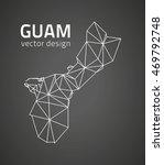 guam black perspective contour... | Shutterstock .eps vector #469792748