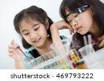 little asian student girl... | Shutterstock . vector #469793222