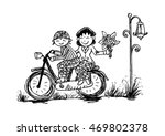 illustration of funny cartoon... | Shutterstock .eps vector #469802378