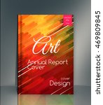 the template of annual report.... | Shutterstock .eps vector #469809845