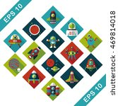 space and asyronomy icons set | Shutterstock .eps vector #469814018