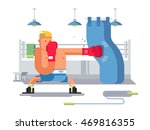 boxer cartoon character | Shutterstock .eps vector #469816355