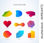 vector logo elements set.... | Shutterstock .eps vector #469816472