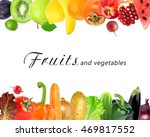fruits and vegetables on white... | Shutterstock . vector #469817552