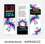 banners set  trendy geometric... | Shutterstock .eps vector #469818122