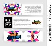 banners set  trendy geometric... | Shutterstock .eps vector #469818212