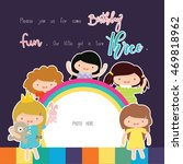 happy birthday card | Shutterstock .eps vector #469818962