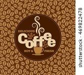 coffee design template ... | Shutterstock .eps vector #469822478